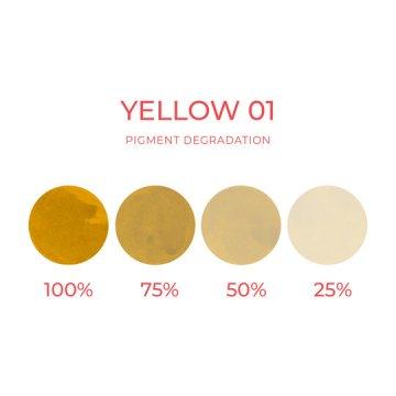 pigmenty dokorekty makijażu permanentnego żółty
