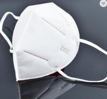 biała maseczka chroniąca przedwirusem KN95