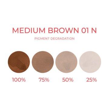 neutralny średni brąz pigment dobrwi