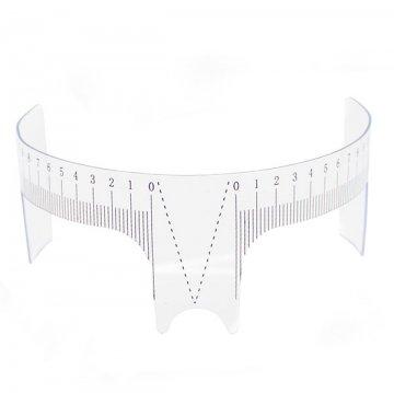 elastyczna plastikowa linijka domierzenie brwi przedrysunkiem wielorazowego użytku