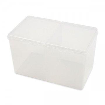 plastikowe pudełko z przegrodą napatyczki, waciki